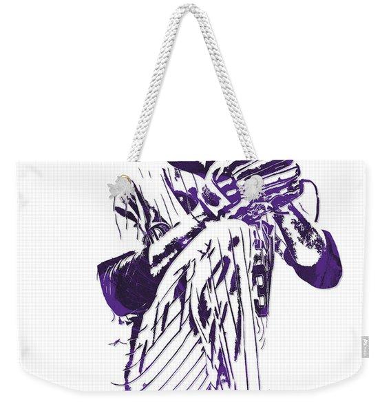 Kyle Freeland Colorado Rockies Pixel Art 1 Weekender Tote Bag