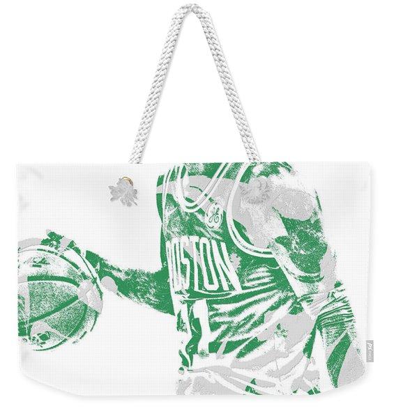 Kyrie Irving Boston Celtics Pixel Art 40 Weekender Tote Bag