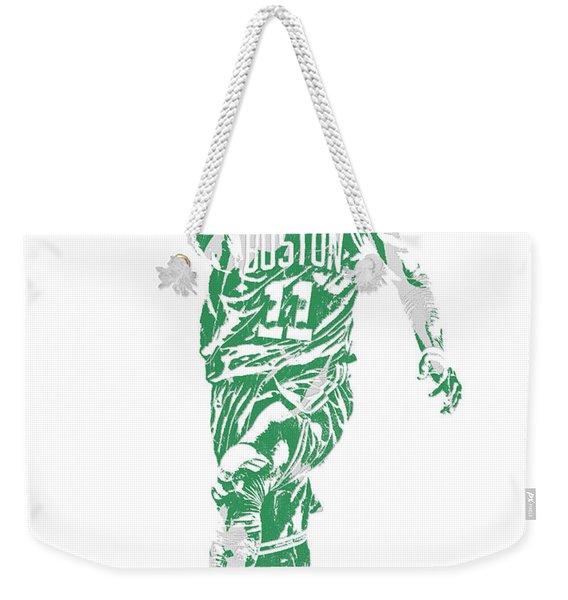 Kyrie Irving Boston Celtics Pixel Art 43 Weekender Tote Bag