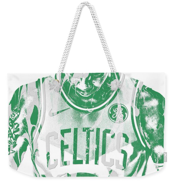 Kyrie Irving Boston Celtics Pixel Art 5 Weekender Tote Bag