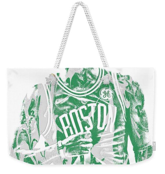 Kyrie Irving Boston Celtics Pixel Art 7 Weekender Tote Bag
