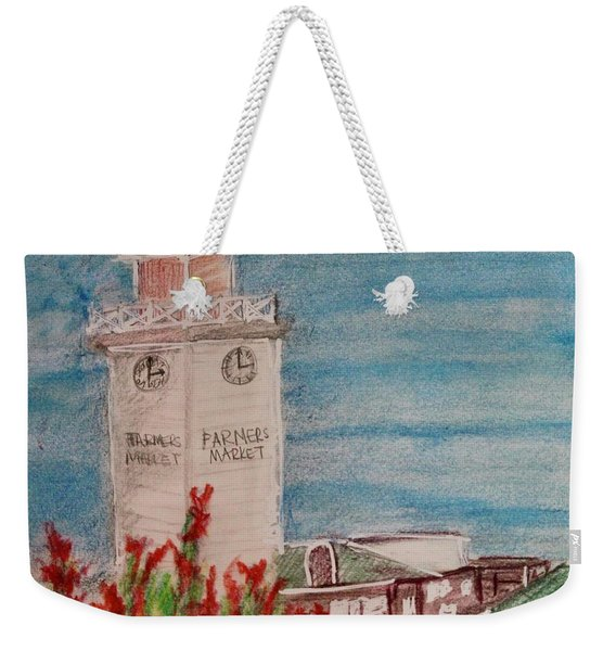 Weekender Tote Bag featuring the painting La Farmer's Market by Kim Nelson