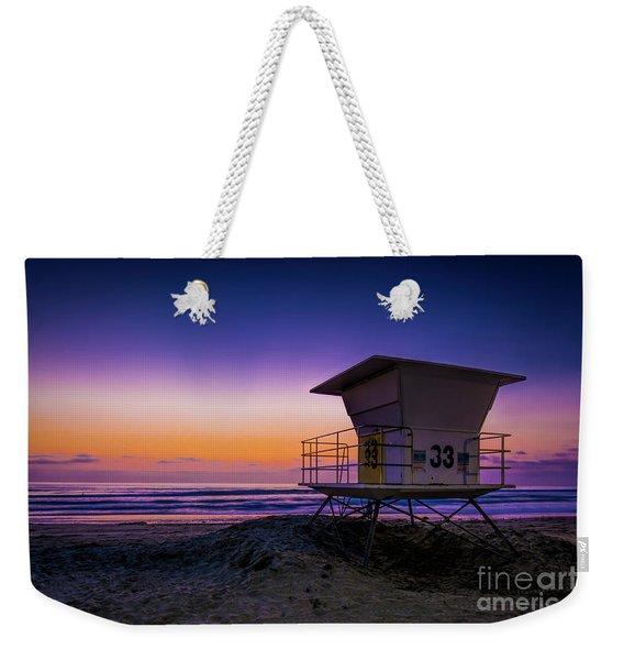 La Jolla Beach Sunset Weekender Tote Bag