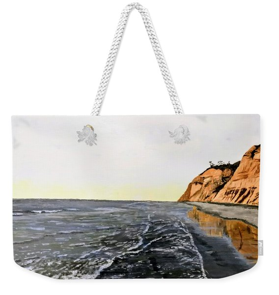 Weekender Tote Bag featuring the painting La Jolla Shoreline by Kevin Daly
