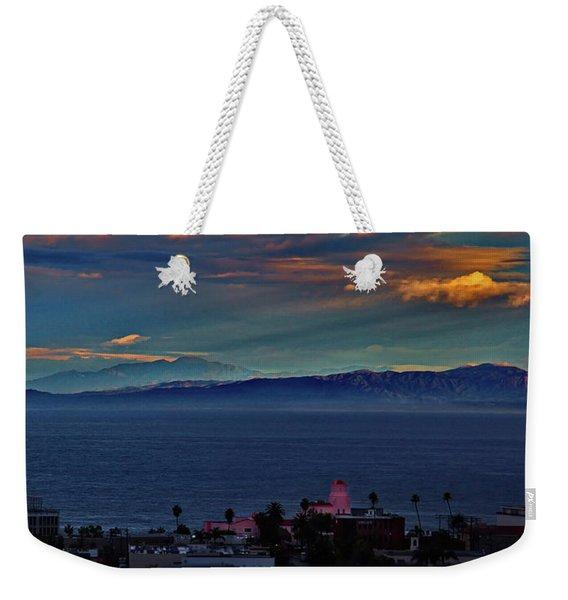 La Jolla Sunrise - Pink Lady Weekender Tote Bag