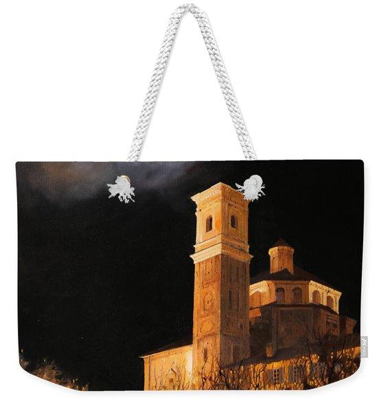 la luna a Cherasco Weekender Tote Bag