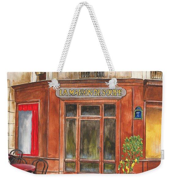 La Maison De Soupe Weekender Tote Bag