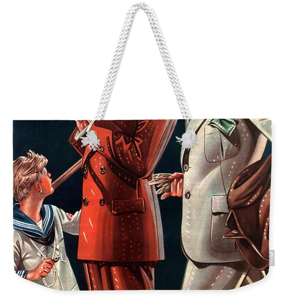La Rinascente - Clothing For Men - Italian Fashion - Padova, Italy - Vintage Advertising Poster Weekender Tote Bag