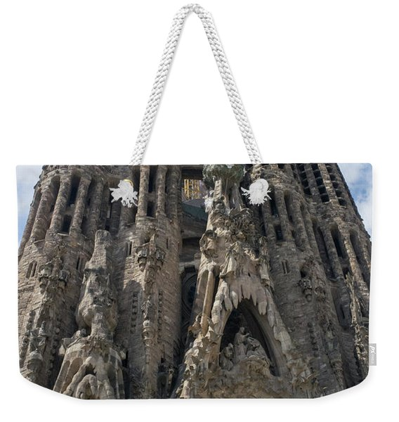 Weekender Tote Bag featuring the photograph La Sagrada Familia by Frank DiMarco