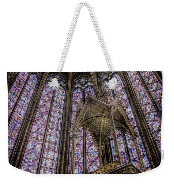 Paris, France - La-sainte-chapelle - Apse And Canopy Weekender Tote Bag