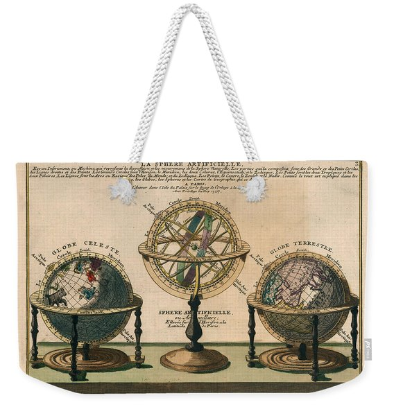 La Sphere Artificielle - Illustration Of The Globe - Celestial And Terrestrial Globes - Astrolabe Weekender Tote Bag