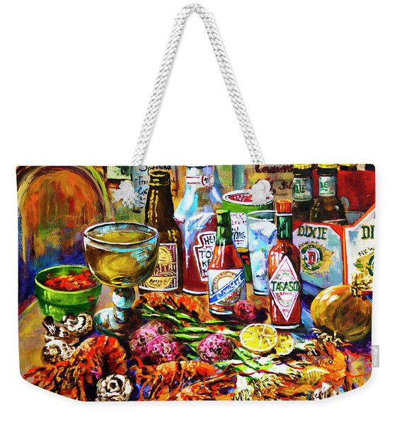 La Table De Fruits De Mer Weekender Tote Bag