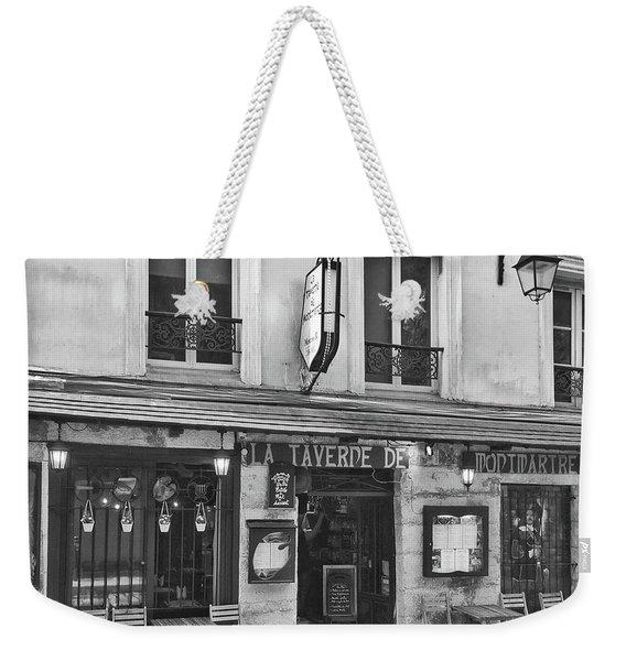 Weekender Tote Bag featuring the photograph La Taverne De Montmartre, Paris by Frank DiMarco