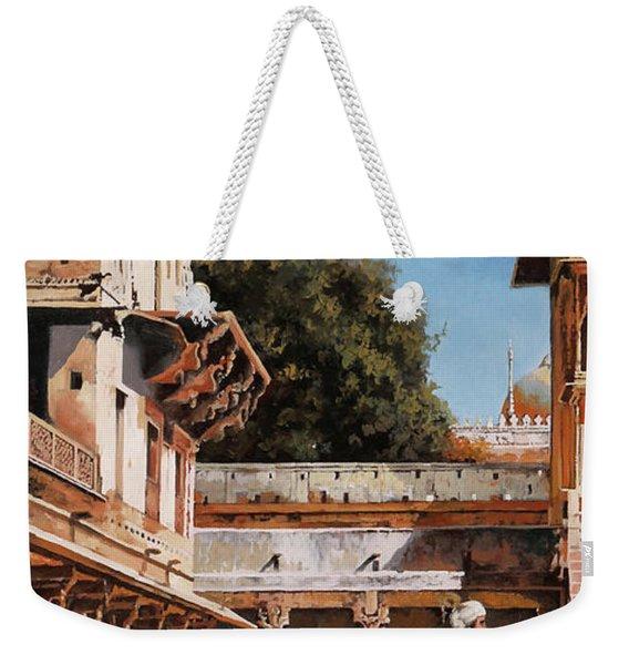 La Torre Bianca Weekender Tote Bag