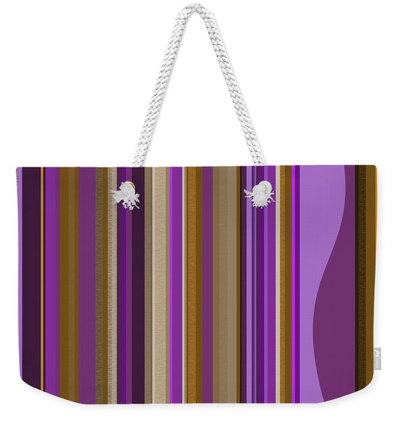 Large Purple Abstract - Two Weekender Tote Bag