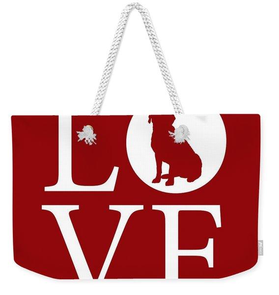 Labrador Love Red Weekender Tote Bag