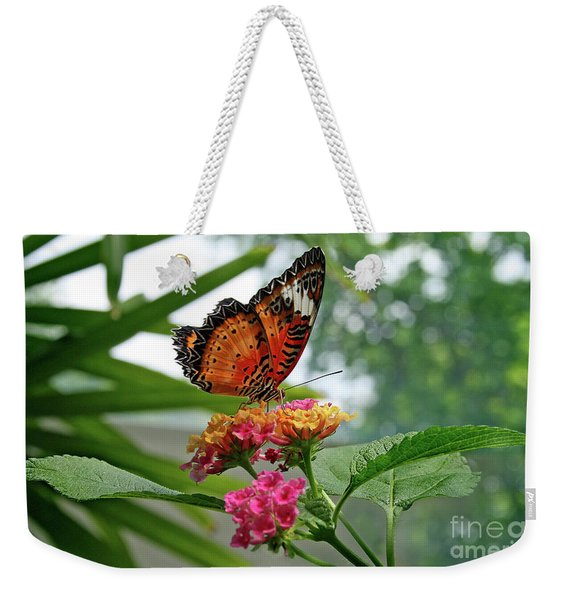 Lacewing Butterfly Weekender Tote Bag