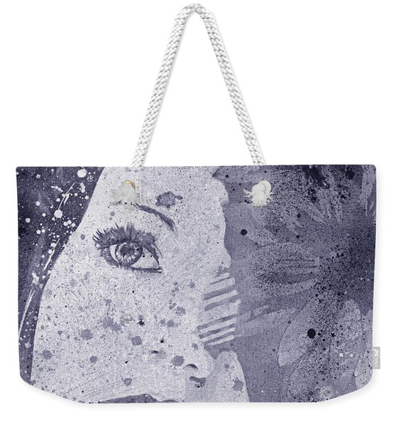 Lack Of Interest - Silver Weekender Tote Bag