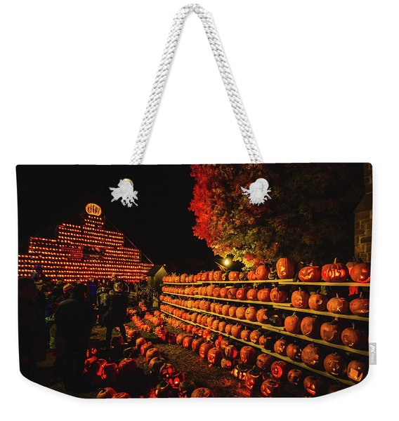 Laconia Pumpkin Festival Graphic Design 3 Weekender Tote Bag