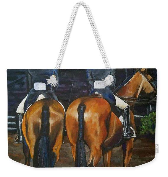 Ladies At Sussex Hunt Night Weekender Tote Bag