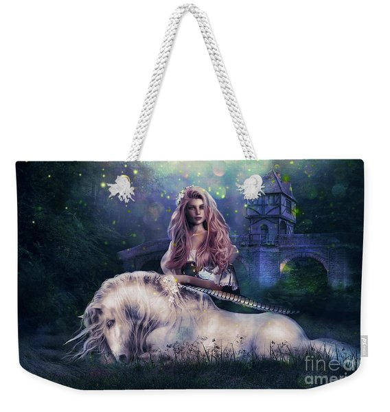 Lady And The Unicorn Weekender Tote Bag
