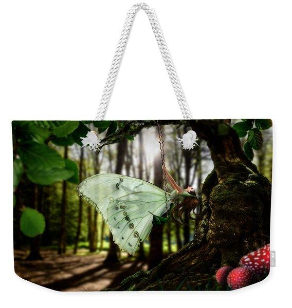Lady Butterfly Weekender Tote Bag