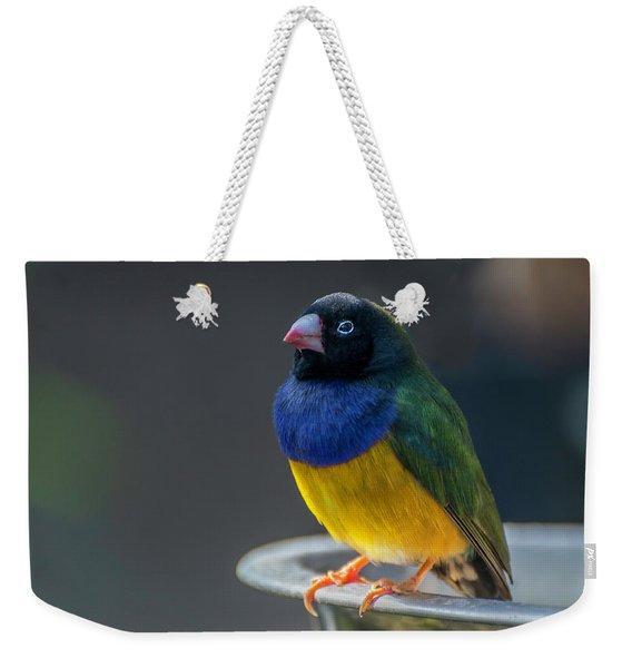 Lady Gouldian Finch Weekender Tote Bag