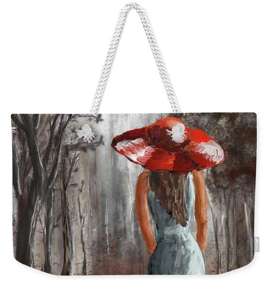 Lady In A Red Hat Weekender Tote Bag