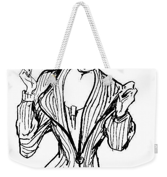 Lady In Fashion Coat Weekender Tote Bag