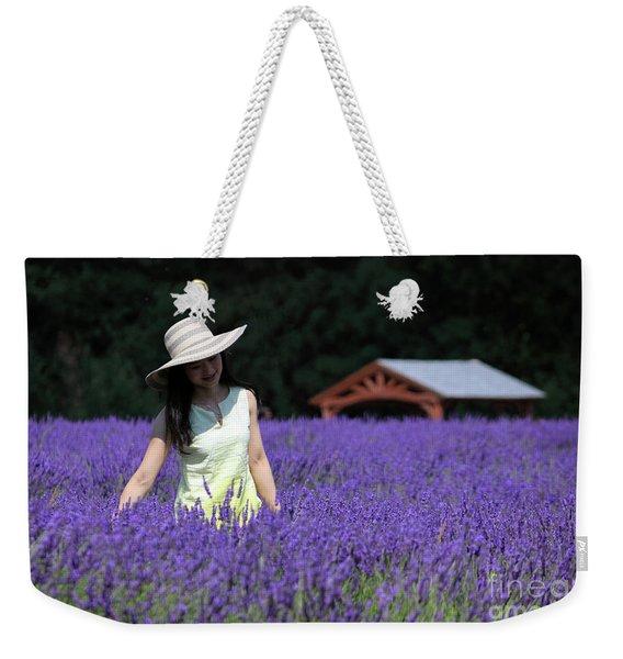 Lady In Lavender Weekender Tote Bag