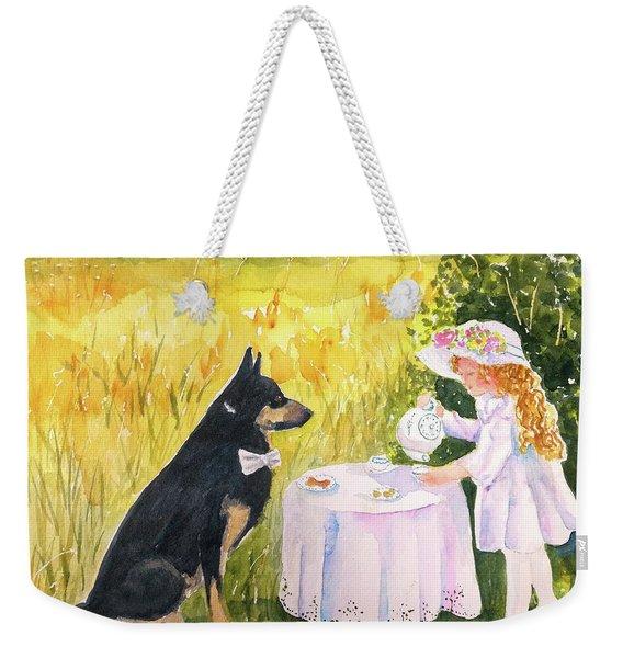 Lady Isabella Invites Mr. Darcy To Tea Weekender Tote Bag