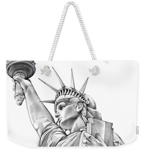 Lady Liberty Weekender Tote Bag