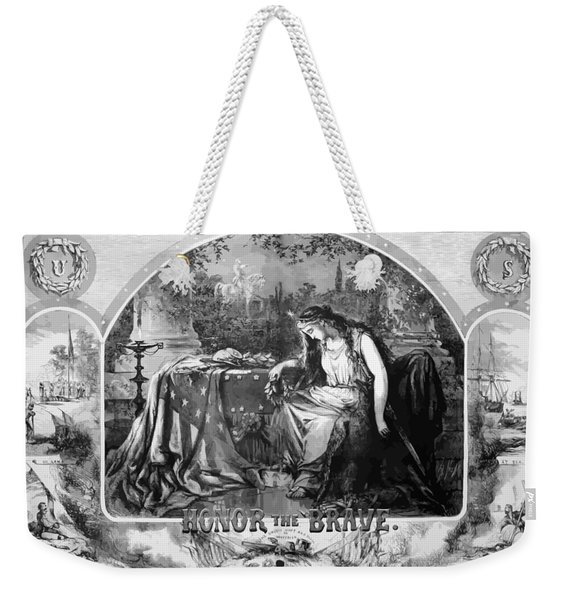 Lady Liberty Mourns During The Civil War Weekender Tote Bag