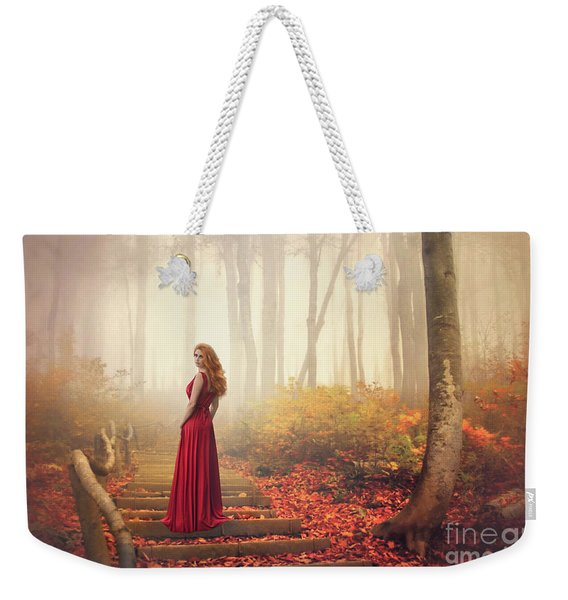 Lady Of The Golden Forest Weekender Tote Bag