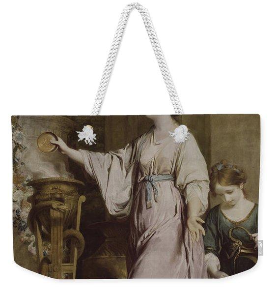 Lady Sarah Bunbury Sacrificing To The Graces Weekender Tote Bag