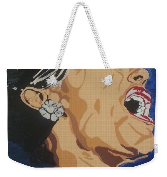 Lady Sings The Blues Weekender Tote Bag