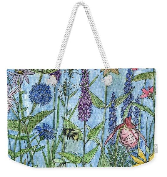 Lady Slipper In My Garden  Weekender Tote Bag