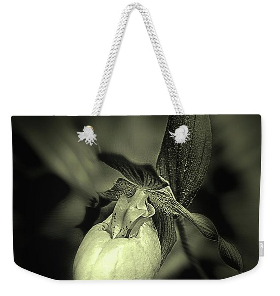 Lady Slipper Orchid Flower Weekender Tote Bag