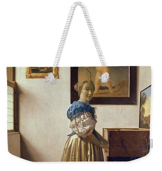 Lady Standing At The Virginal Weekender Tote Bag