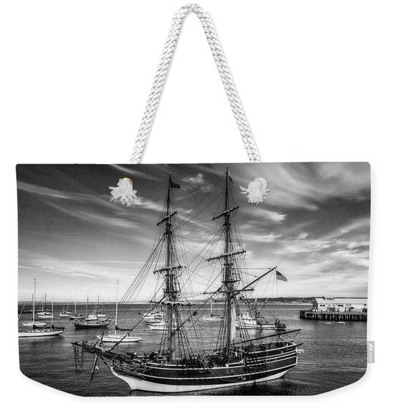 Lady Washington In Black And White Weekender Tote Bag