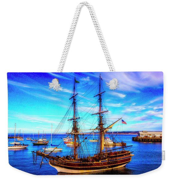 Lady Washington In Monterey Bay Weekender Tote Bag