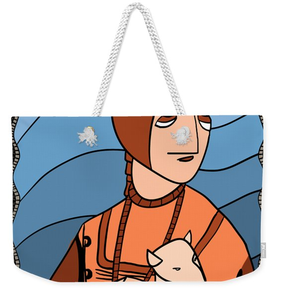 Lady With An Ermine By Piotr Weekender Tote Bag