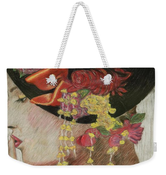 Lady With Hat Weekender Tote Bag