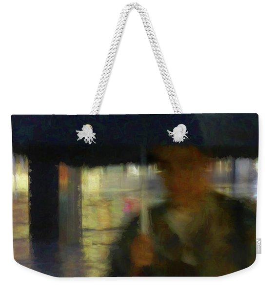 Lady With Umbrella Weekender Tote Bag