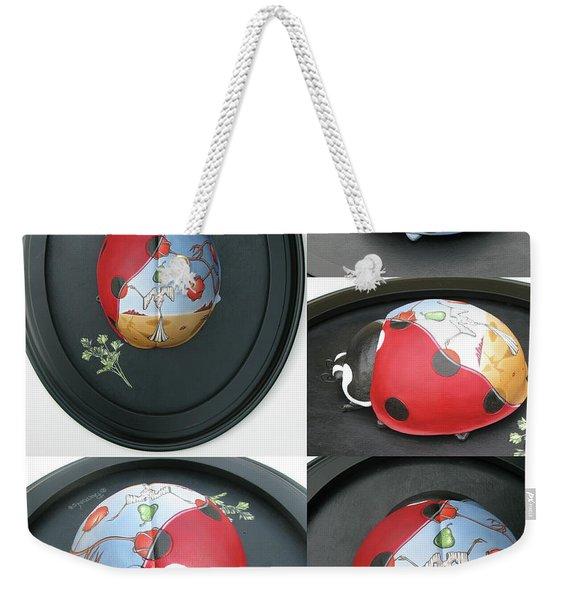 Ladybug On The Half Shell Weekender Tote Bag