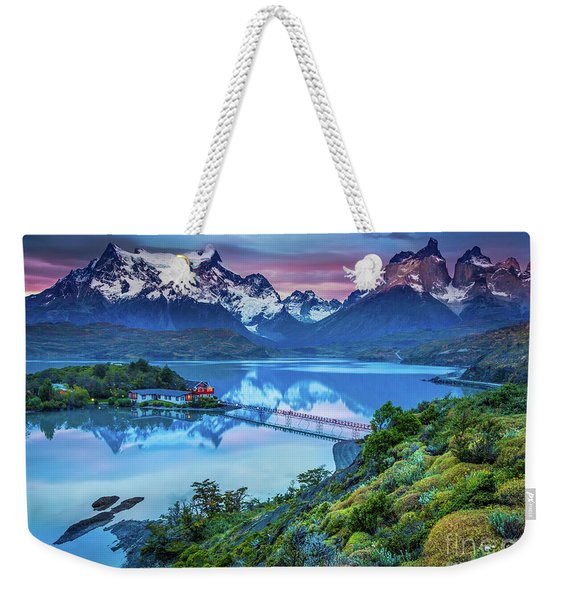 Lago Pehoe - March Weekender Tote Bag