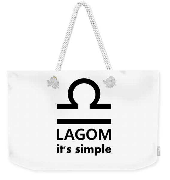 Lagom - Simple Weekender Tote Bag