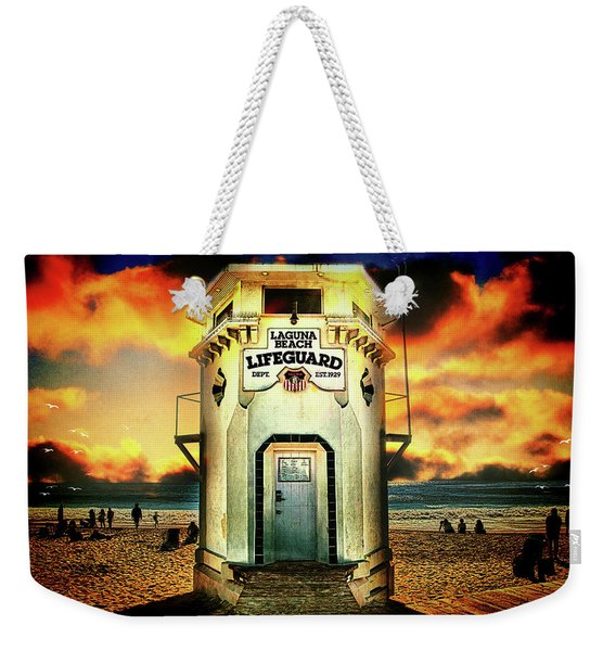 Laguna Beach Lifeguard Hq Weekender Tote Bag
