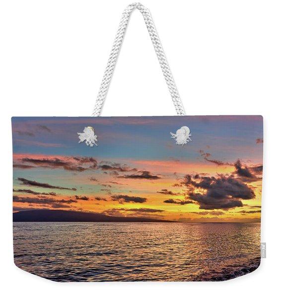 Lahaina Sunset Panorama Weekender Tote Bag