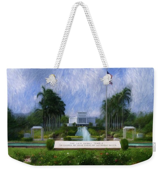 Laie Hawaii Temple Weekender Tote Bag